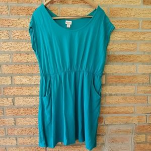 Mossimo Teal Lightweight Dress with Pockets